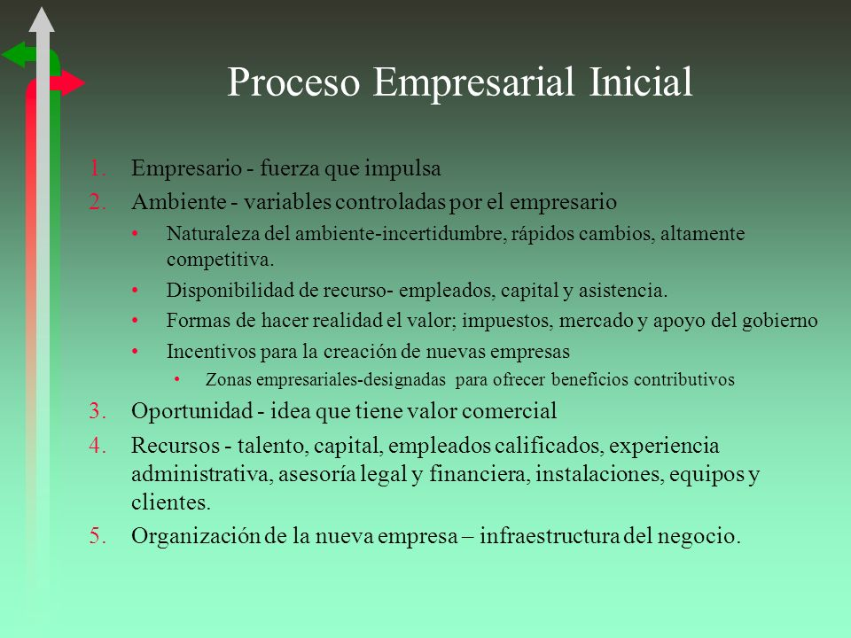 Proceso Empresarial Inicial