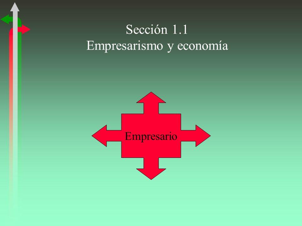 Sección 1.1 Empresarismo y economía