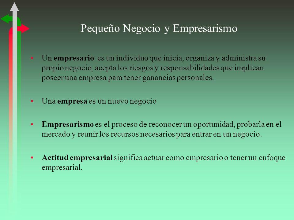 Pequeño Negocio y Empresarismo