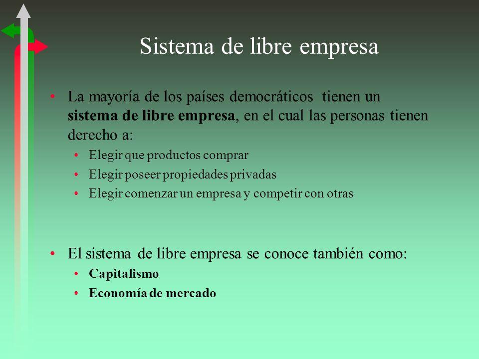 Sistema de libre empresa