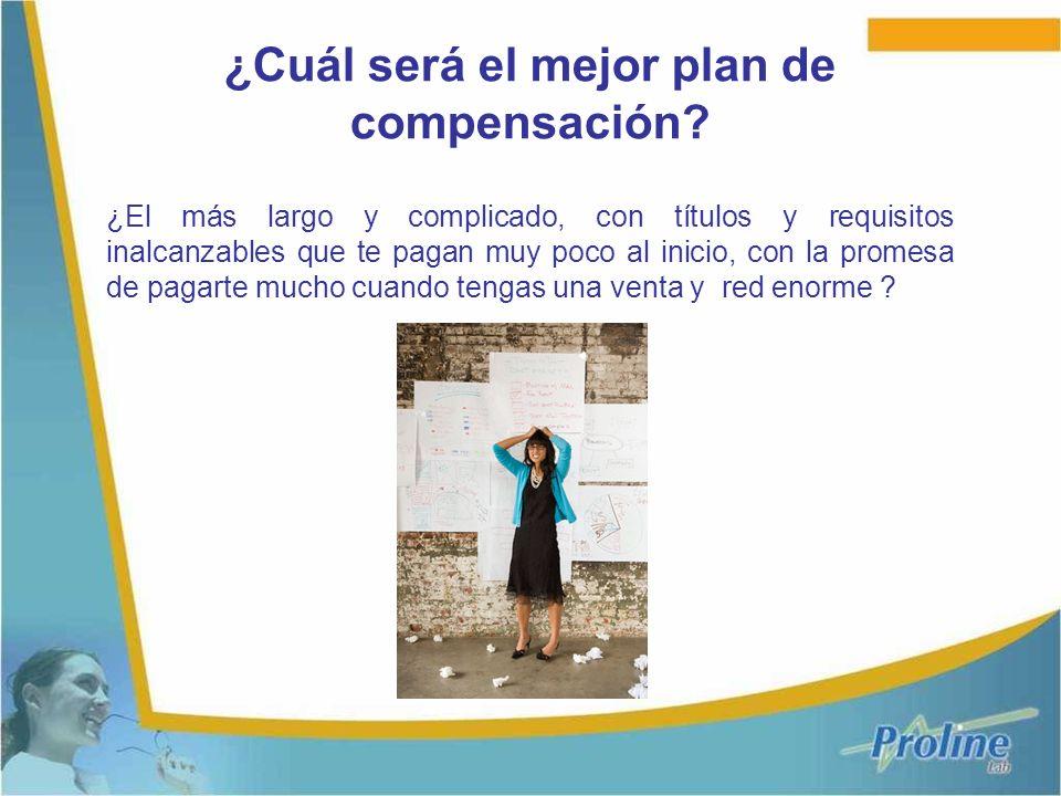 ¿Cuál será el mejor plan de compensación