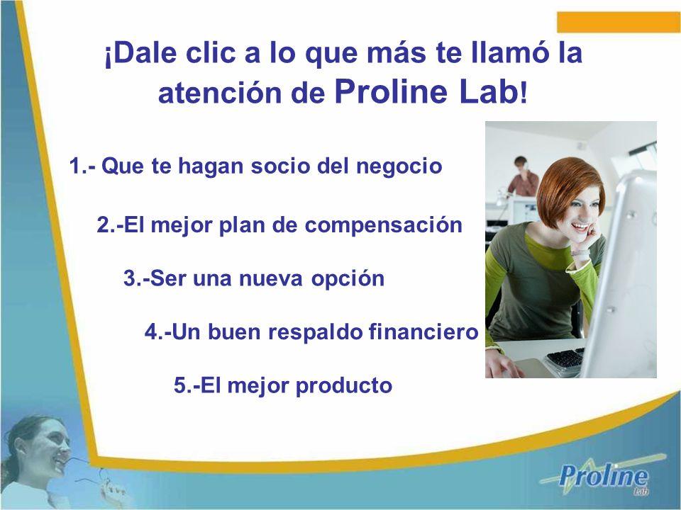 ¡Dale clic a lo que más te llamó la atención de Proline Lab!