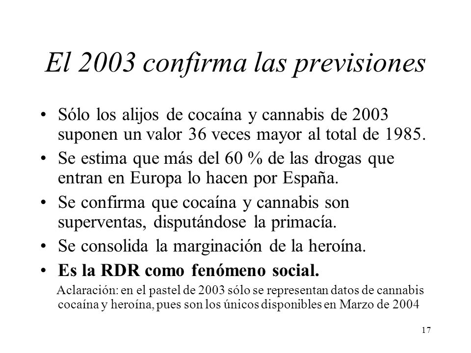 El 2003 confirma las previsiones