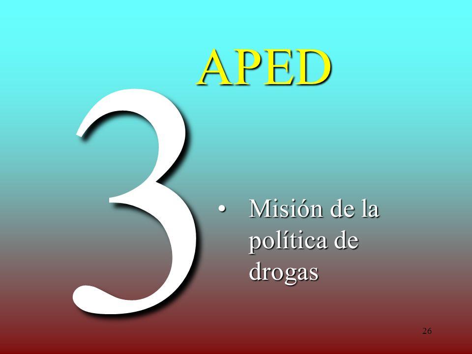 Misión de la política de drogas