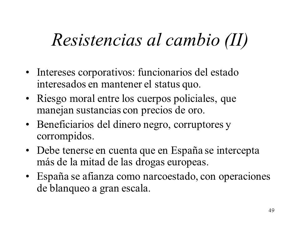 Resistencias al cambio (II)