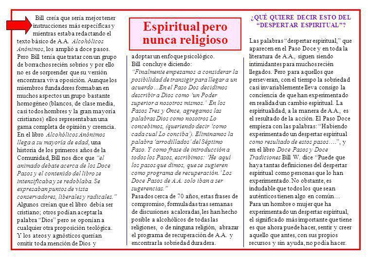 Espiritual pero nunca religioso