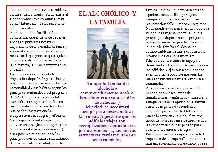 EL ALCOHÓLICO Y LA FAMILIA