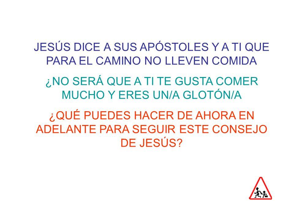 JESÚS DICE A SUS APÓSTOLES Y A TI QUE PARA EL CAMINO NO LLEVEN COMIDA