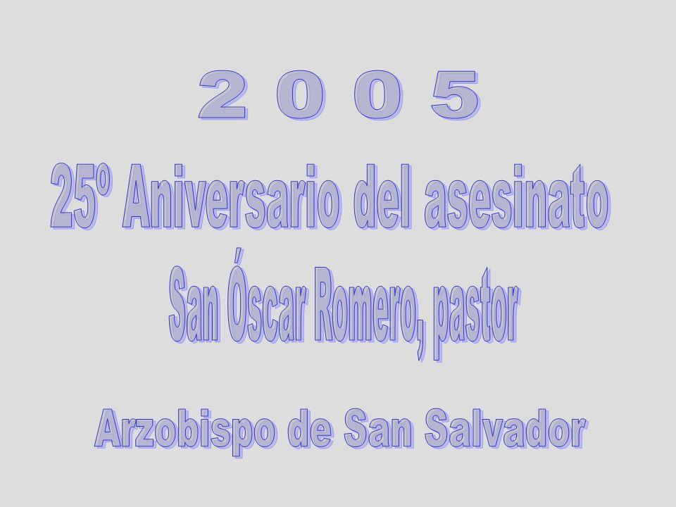 25º Aniversario del asesinato