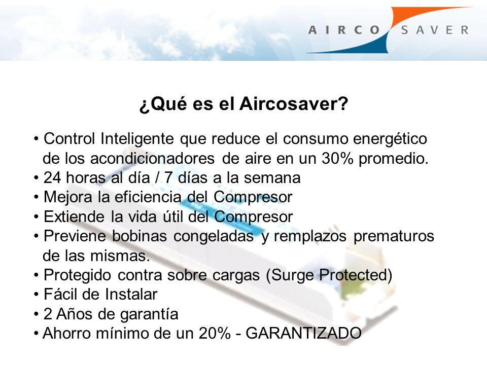 ¿Qué es el Aircosaver Control Inteligente que reduce el consumo energético. de los acondicionadores de aire en un 30% promedio.