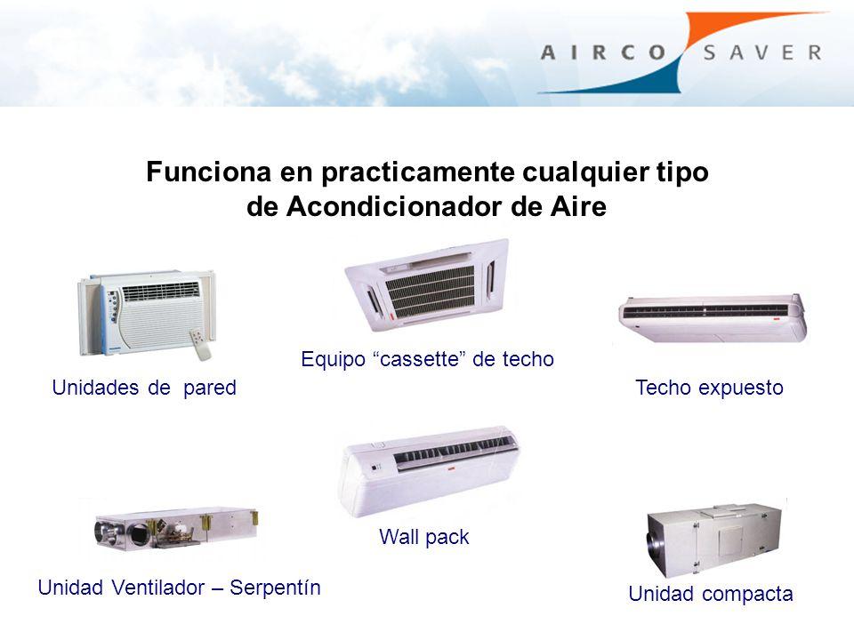 Funciona en practicamente cualquier tipo de Acondicionador de Aire