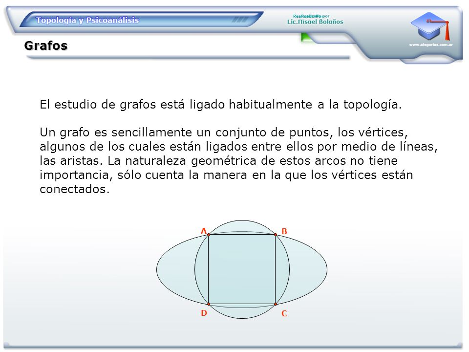 El estudio de grafos está ligado habitualmente a la topología.