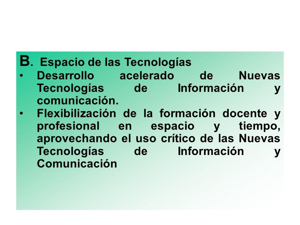 B. Espacio de las Tecnologías