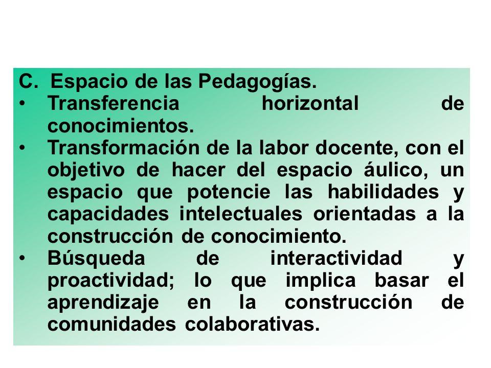 C. Espacio de las Pedagogías.