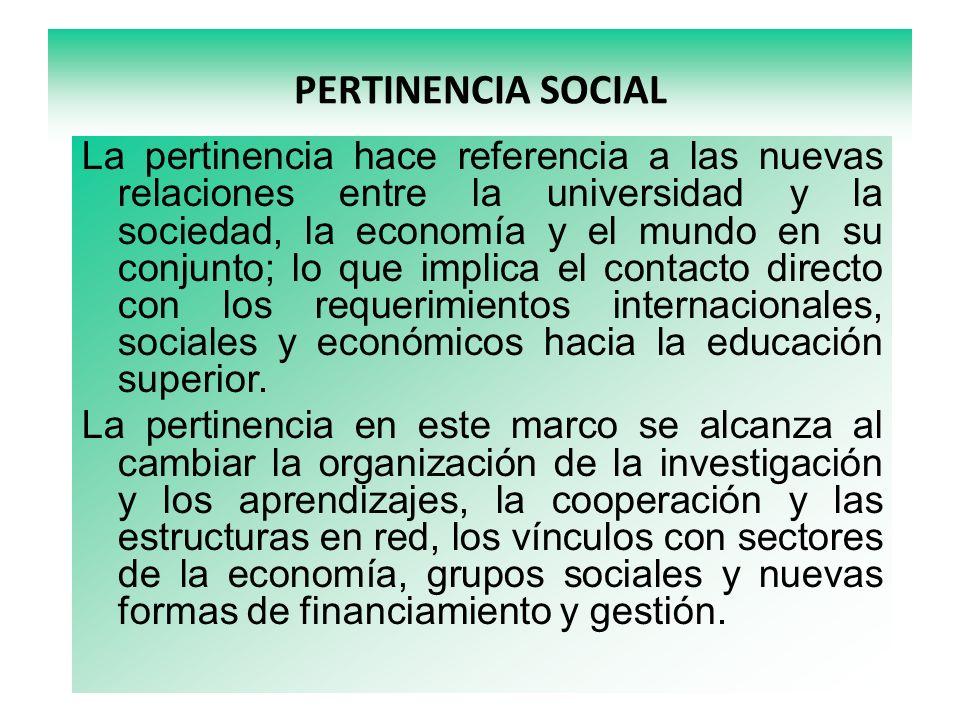 PERTINENCIA SOCIAL