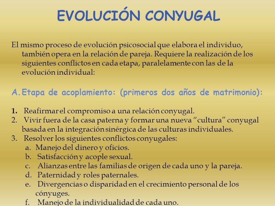 EVOLUCIÓN CONYUGAL