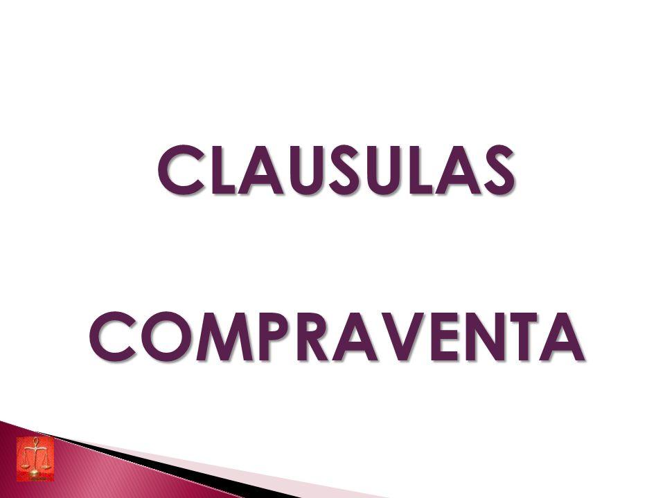 CLAUSULAS COMPRAVENTA