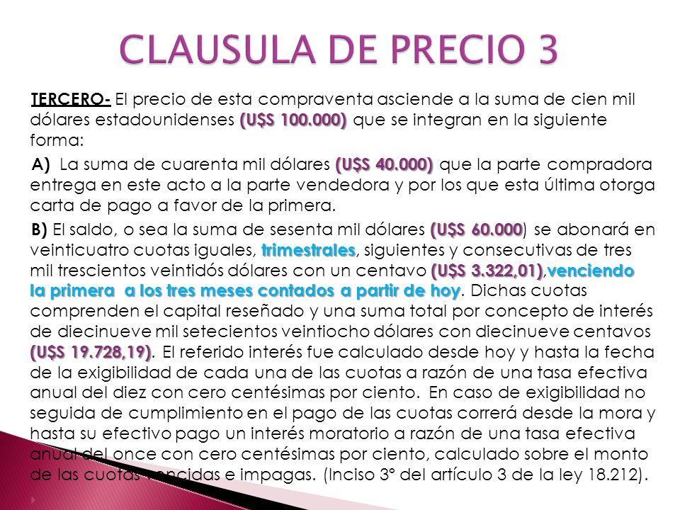 CLAUSULA DE PRECIO 3