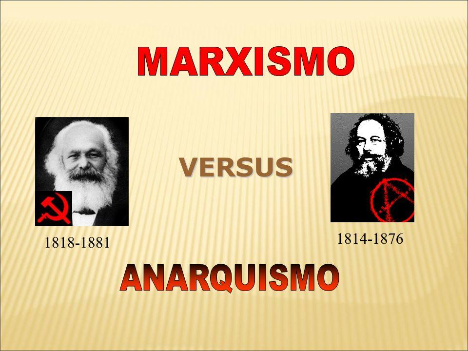 MARXISMO VERSUS 1814-1876 1818-1881 ANARQUISMO