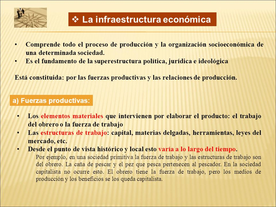 La infraestructura económica