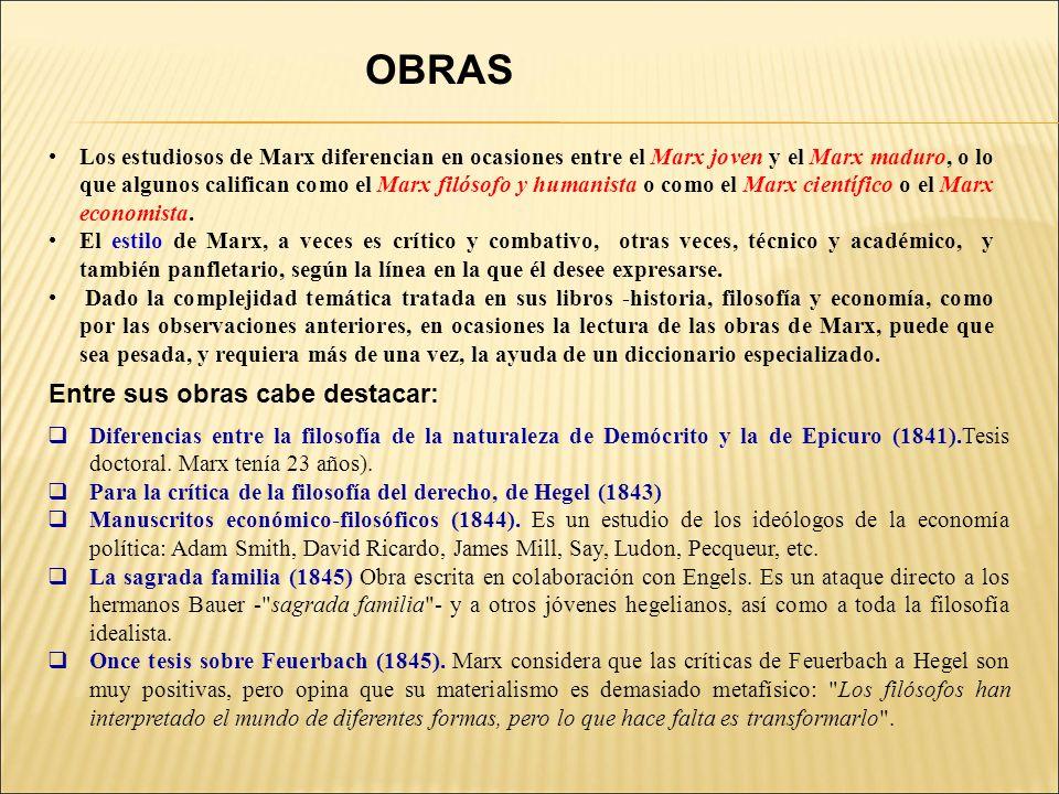 OBRAS Entre sus obras cabe destacar: