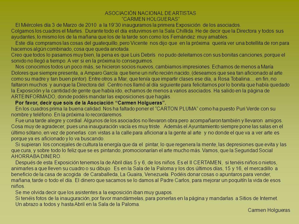 ASOCIACIÓN NACIONAL DE ARTISTAS