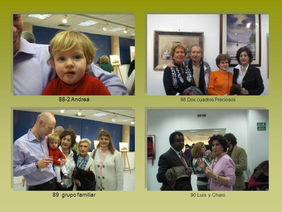 88-2 Andrea 88 Dos cuadros Preciosos 89 grupo familiar 90 Luis y Charo