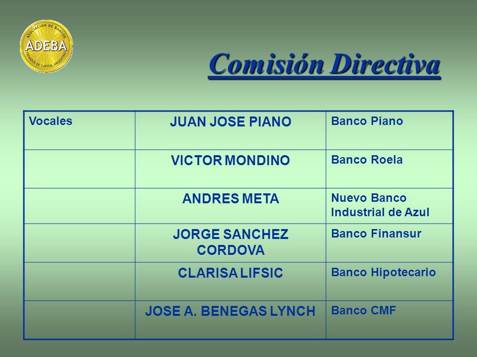Comisión Directiva JUAN JOSE PIANO VICTOR MONDINO ANDRES META