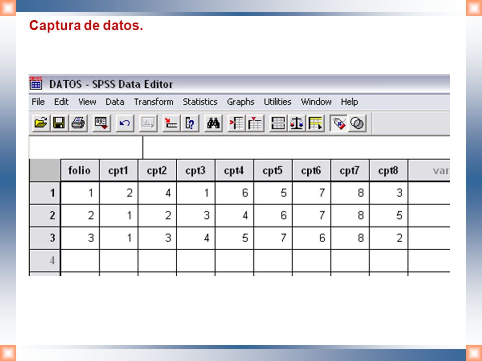 Captura de datos.