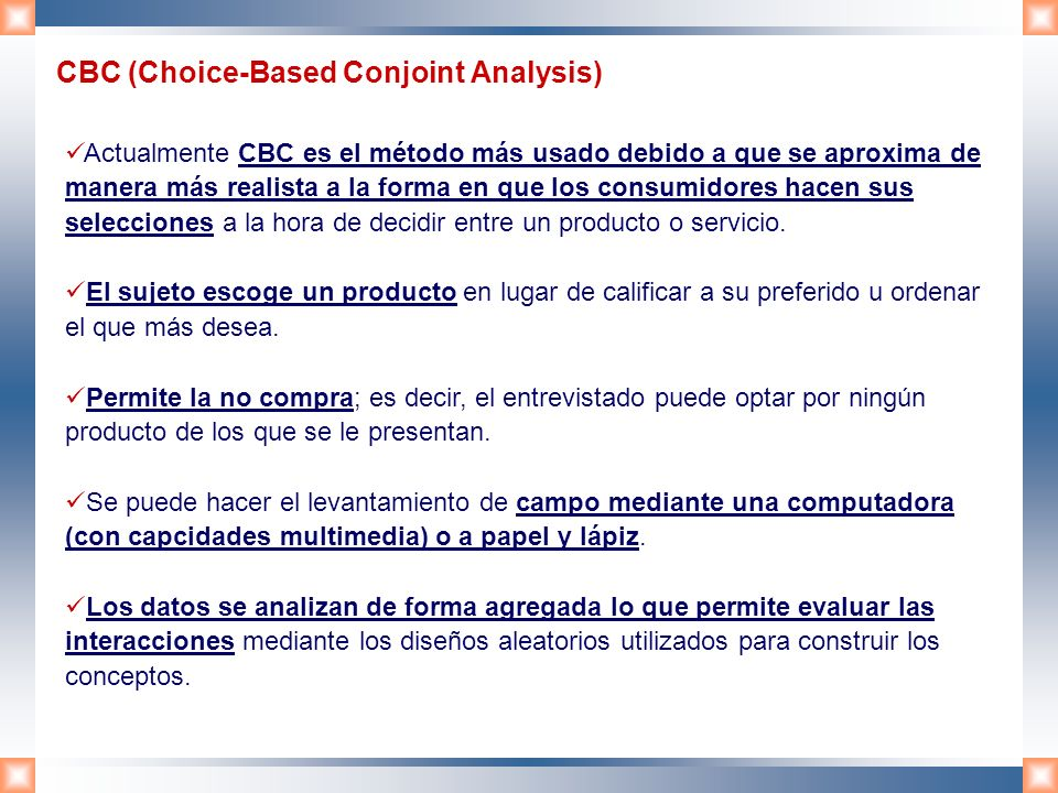 CBC (Choice-Based Conjoint Analysis)