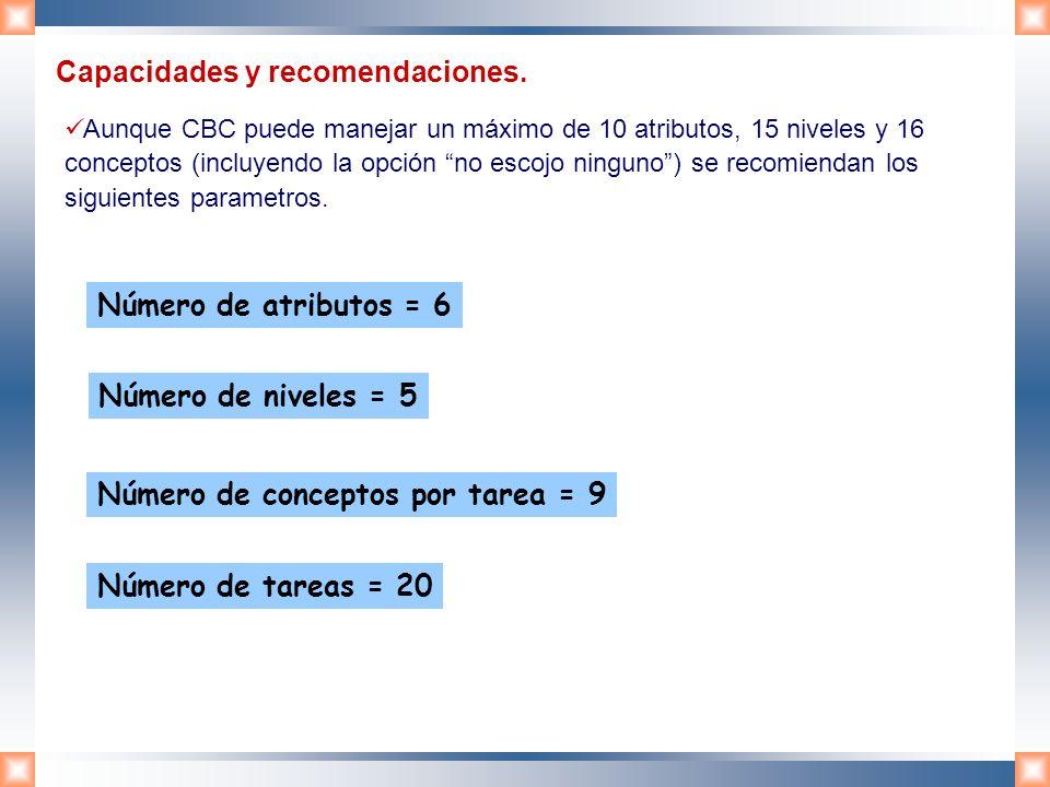 Capacidades y recomendaciones.