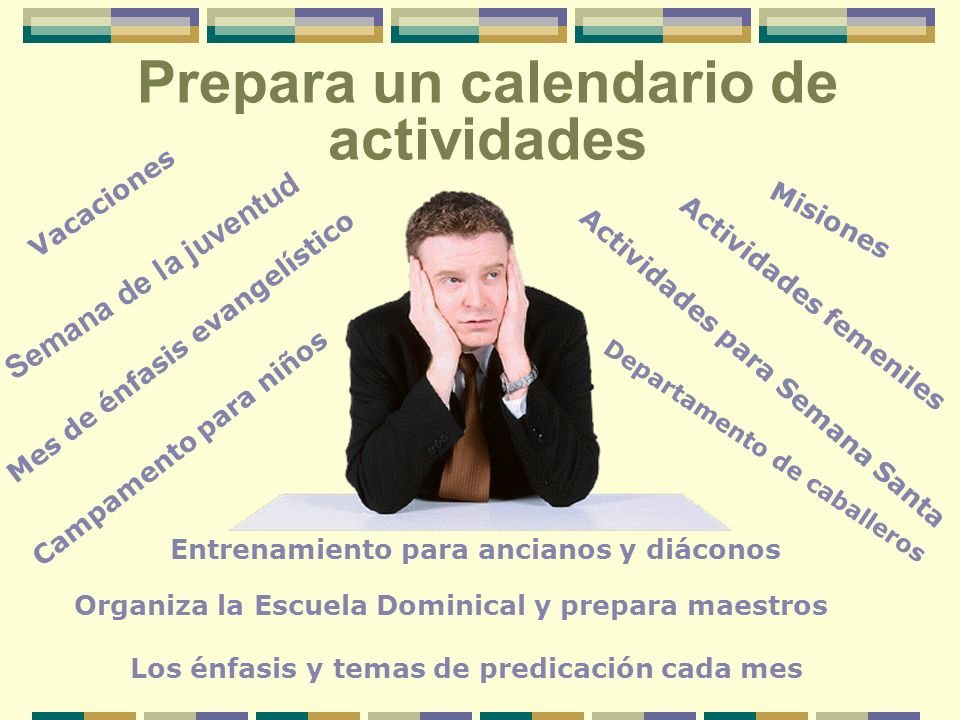 Prepara un calendario de actividades