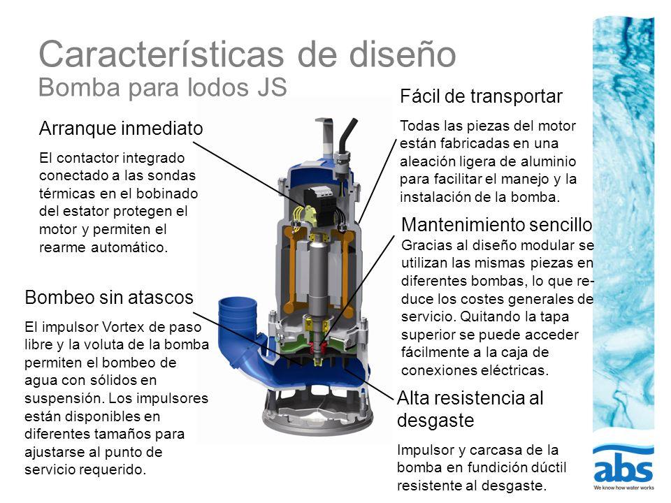 Características de diseño Bomba para lodos JS