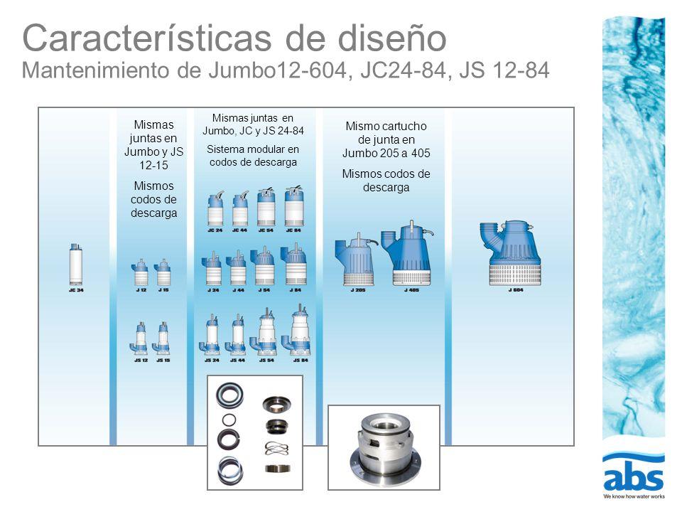 Características de diseño Mantenimiento de Jumbo12-604, JC24-84, JS 12-84
