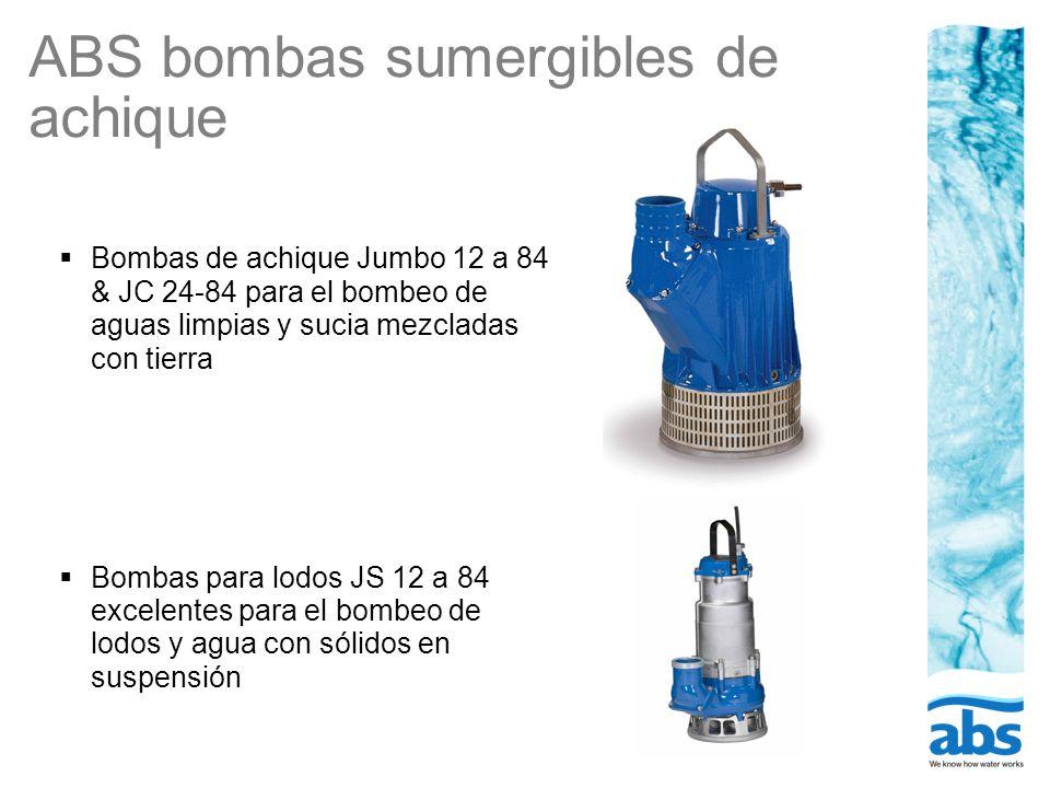 ABS bombas sumergibles de achique