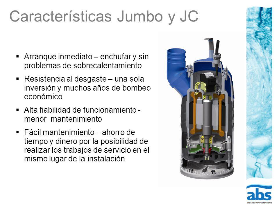 Características Jumbo y JC