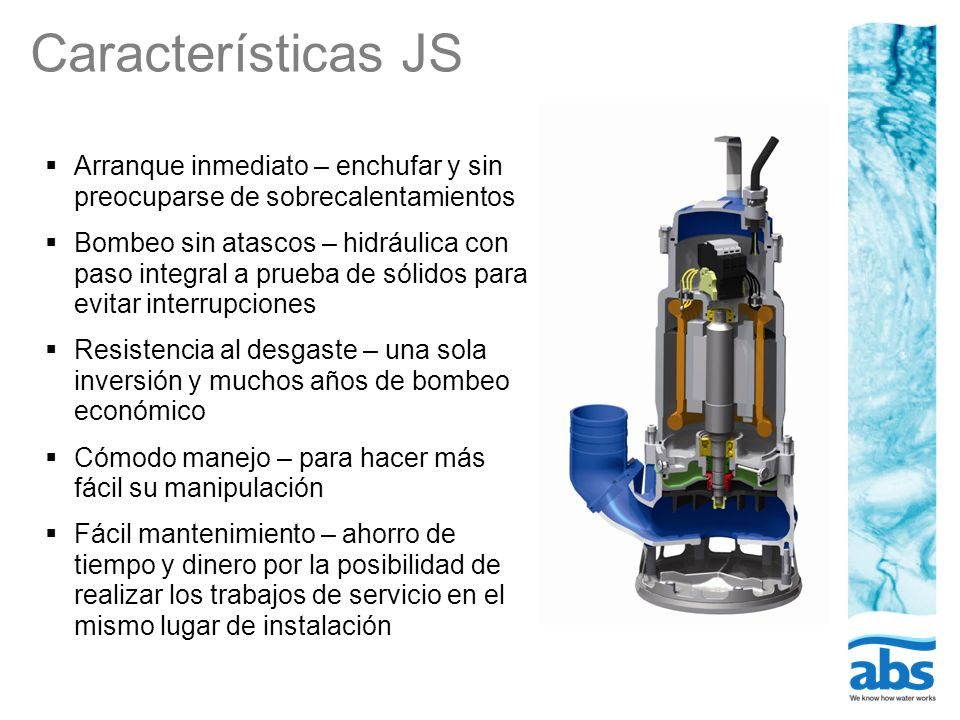 Características JS Arranque inmediato – enchufar y sin preocuparse de sobrecalentamientos.