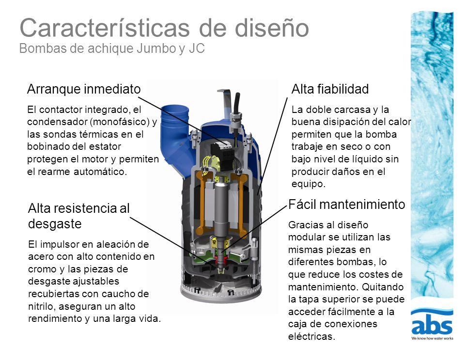 Características de diseño Bombas de achique Jumbo y JC
