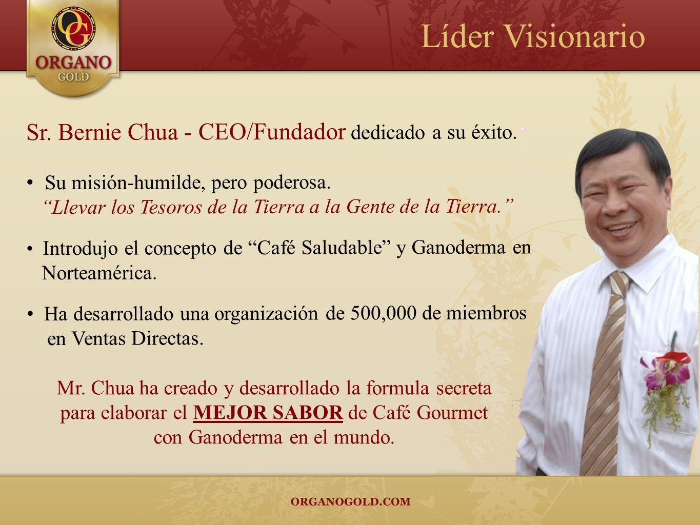 Líder Visionario Sr. Bernie Chua - CEO/Fundador dedicado a su éxito.