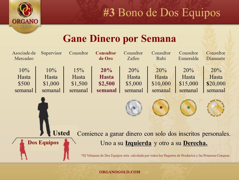 #3 Bono de Dos Equipos Gane Dinero por Semana Usted