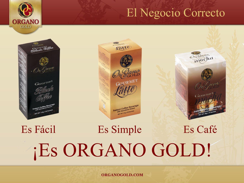 El Negocio Correcto Es Fácil Es Simple Es Café ¡Es ORGANO GOLD!