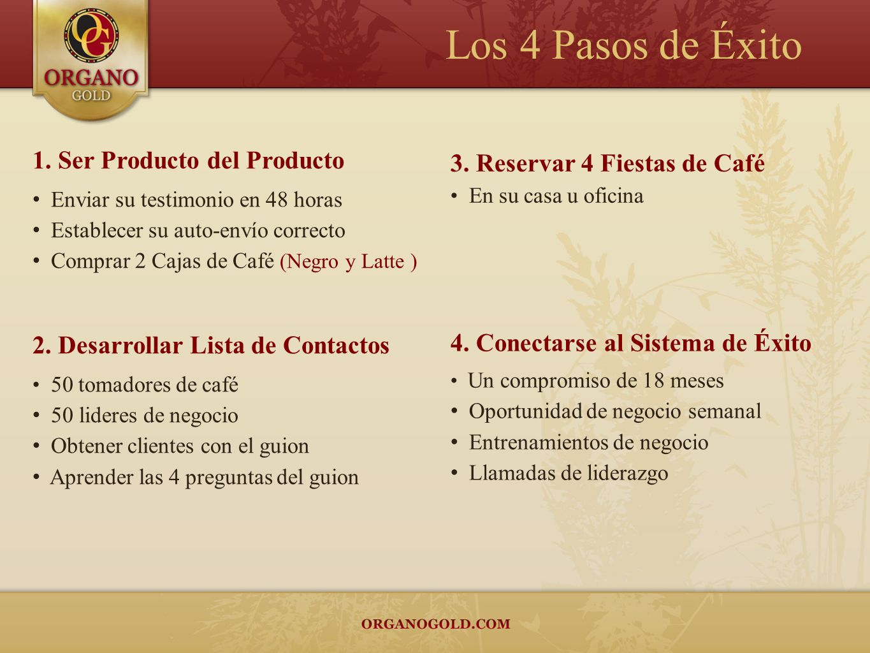 Los 4 Pasos de Éxito 1. Ser Producto del Producto