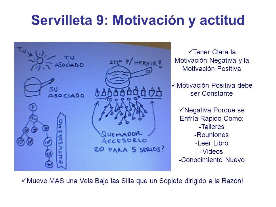 Servilleta 9: Motivación y actitud