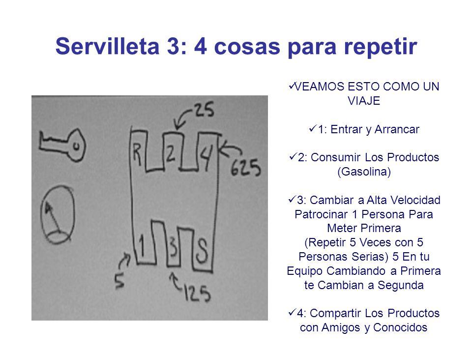 Servilleta 3: 4 cosas para repetir
