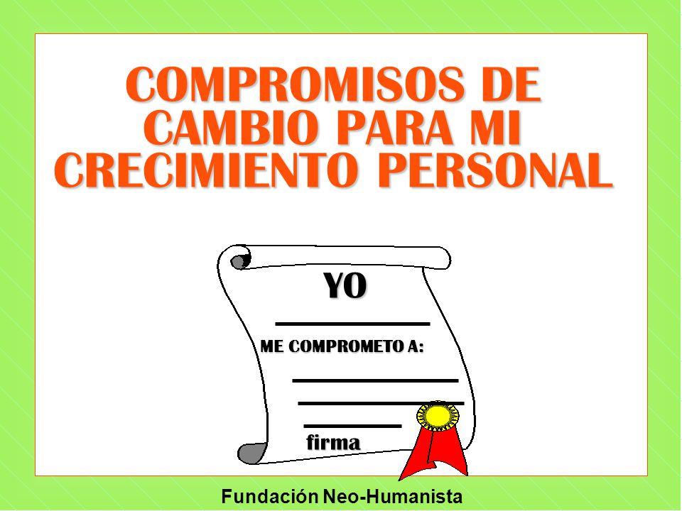 COMPROMISOS DE CAMBIO PARA MI CRECIMIENTO PERSONAL