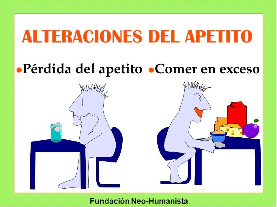 ALTERACIONES DEL APETITO