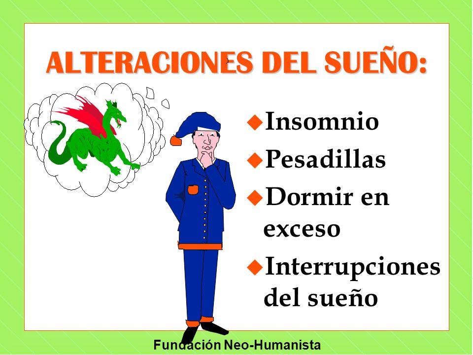 ALTERACIONES DEL SUEÑO: