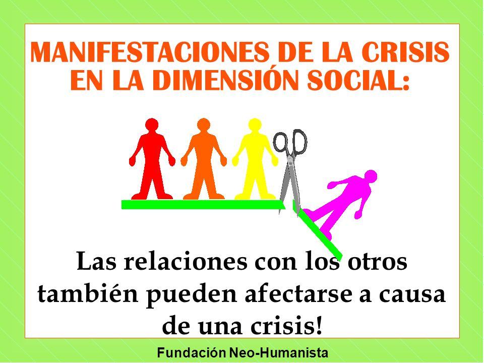 MANIFESTACIONES DE LA CRISIS EN LA DIMENSIÓN SOCIAL: