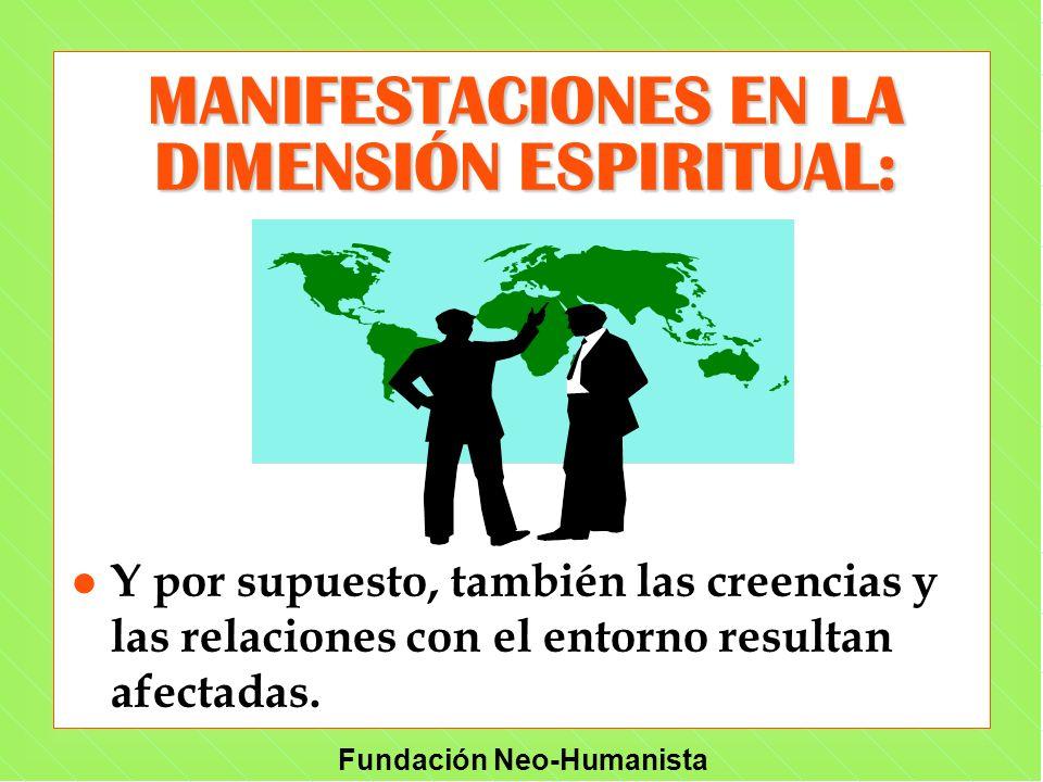 MANIFESTACIONES EN LA DIMENSIÓN ESPIRITUAL: