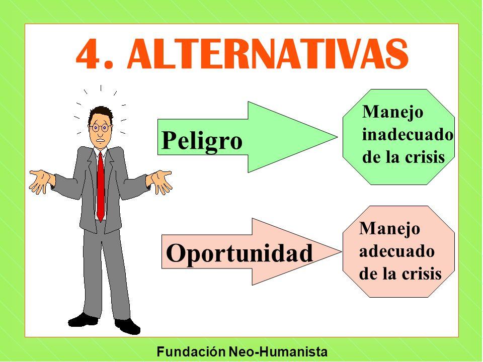 4. ALTERNATIVAS Peligro Oportunidad Manejo inadecuado de la crisis